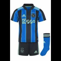 Ajax Kid's Soccer Jersey Away Whole Kit (Jersey+Short+Socks) 2021/22
