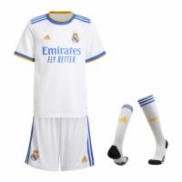 Real Madrid Kid's Soccer Jersey Home Whole Kit (Jersey+Short+Socks) 2021/22