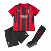 AC Milan Kid's Soccer Jersey Home Whole Kit (Jersey+Short+Socks) 2021/22