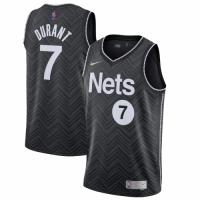 Men's Brooklyn Nets Kevin Durant Nike Black 2020/21 Swingman Player Jersey – Earned Edition