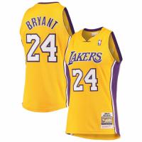 Men's Los Angeles Lakers Kobe Bryant Mitchell & Ness Gold Hardwood Classics 2008-09 Authentic Jersey