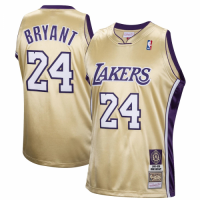 Men's Los Angeles Lakers Kobe Bryant #24 Mitchell & Ness Gold Hall of Fame Class of 2020 Jersey