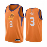 Men's Phoenix Suns Chris Paul #3 Jordan Brand Orange 202021 Swingman Jersey - Statement Edition