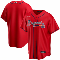 Men's Atlanta Braves Nike Red Alternate Replica Team Jersey