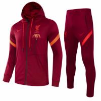 Liverpool Hoodie Training Kit (Jacket+Trouser) Red 2021/22