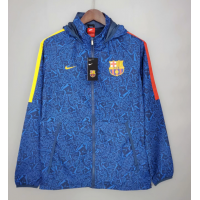 Barcelona Windbreaker Hoodie Jacket Blue 2021/22