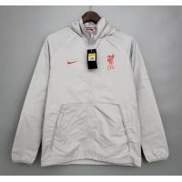 Liverpool Windbreaker Hoodie Jacket White 2021/22