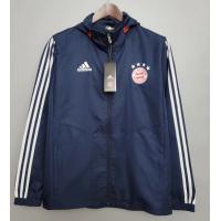 Bayern Munich Windbreaker Hoodie Jacket Navy 2021/22