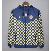 Club America Windbreaker Hoodie Jacket Navy&Yellow 2021/22