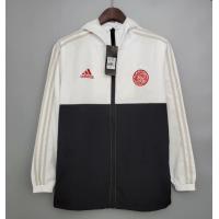 Ajax Windbreaker Hoodie Jacket Black&White 2021/22