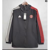 Manchester United Windbreaker Hoodie Jacket Black 2021/22