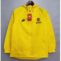Inter Milan Windbreaker Hoodie Jacket Yellow 2021/22