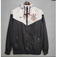 Corinthians Windbreaker Hoodie Jacket Black&White 2021/22