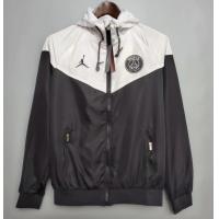 PSG Windbreaker Hoodie Jacket Black&White 2021/22
