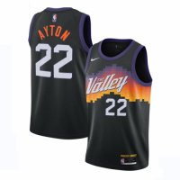 Men's Phoenix Suns DeAndre Ayton #22 Nike Black 2021 Swingman Jersey - City Edition