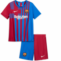 Barcelona Kid's Soccer Jersey Home Kit (Shirt+Short) 2021/22