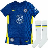 Chelsea Kid's Soccer Jersey Home Kit (Jersey+Short+Socks) 2021/22