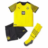 Borussia Dortmund Kid's Soccer Jersey Home Kit (Jersey+Short+Socks) 2021/22