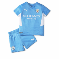 Manchester City Kids Soccer Jersey Home Kit (Jersey+Short) 2021/22