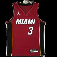 Men's Miami Heat Dwyane Wade #3 Jordan Brand Red 20/21 Swingman Player Jersey - Statement Edition