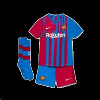 Barcelona Kid's Soccer Jersey Home Whole Kit (Shirt+Short+Socks) 2021/22