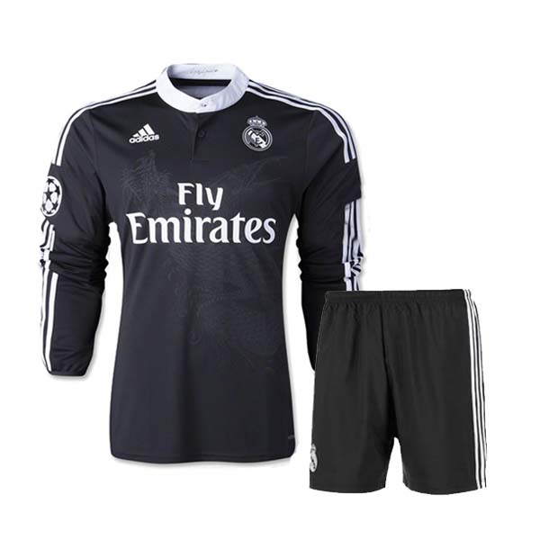 huge discount 258e4 544ae 14-15 Real Madrid Away black Long Sleeve Jersey Kit(Shirt+Short)