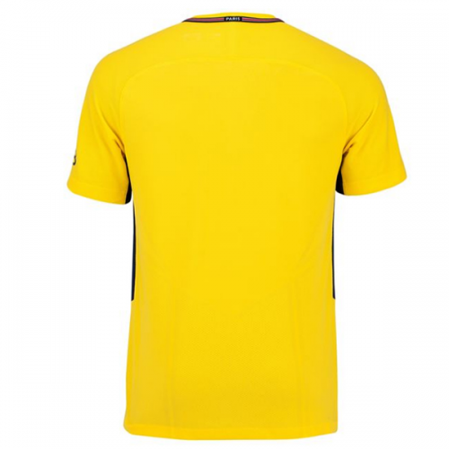 new product 0948f a5a1f 17-18 PSG Away Yellow Soccer Jersey Shirt(Player Version)