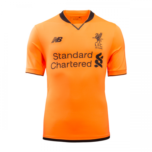 e2c0e5b9c 17-18 Liverpool Third Away Orange Soccer Jersey Shirt - Cheap Soccer ...