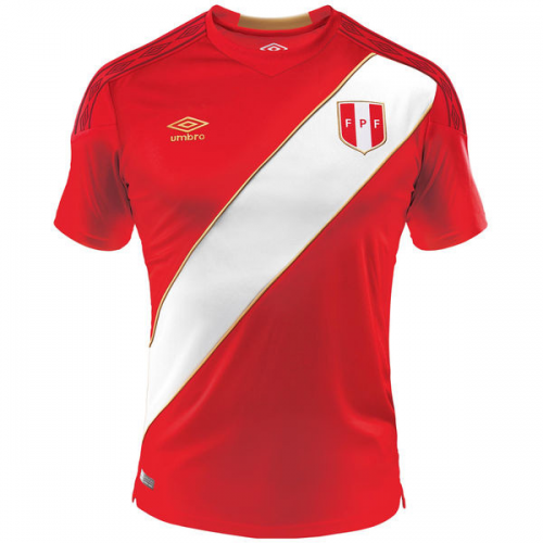 new concept 65794 914fe 2018 World Cup Peru Away Red Soccer Jersey Shirt