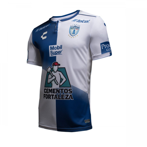 618fa8202d2 18-19 CF Pachuca Home White Blue Jersey Shirt - Cheap Soccer Jerseys ...