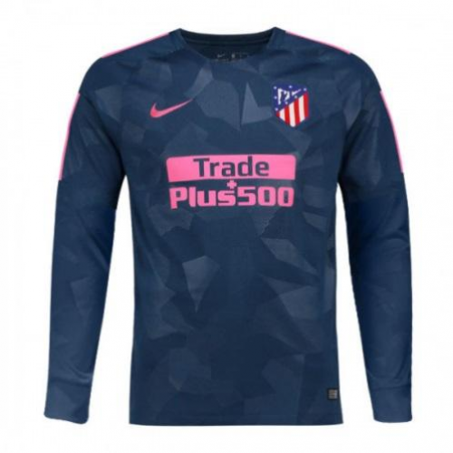 85e6ba7c 17-18 Atletico Madrid Third Away Green Long Sleeve Jersey Shirt ...