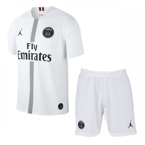 db47ea34c9f ... 18-19 PSG JORDAN 3rd Away Player Version White Soccer Jersey Kit(Shirt+