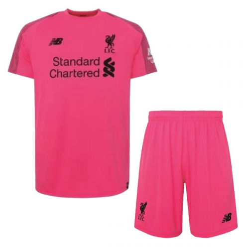 a5e545e11 ... 18-19 Liverpool Goalkeeper Pink Soccer Jersey Kit(Shirt+Short)