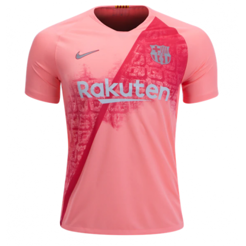 f93a6e5f4eb 18-19 Barcelona Third Away Pink Soccer Jersey Shirt - Cheap Soccer ...