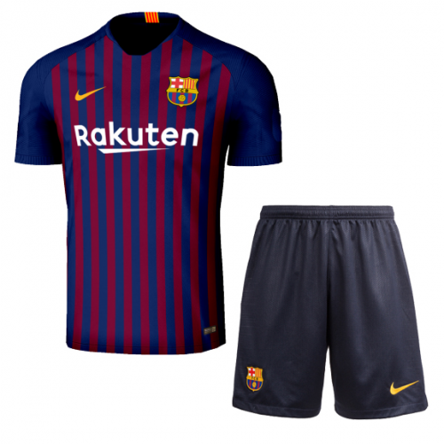 4febf874452 18-19 Barcelona Home Player Version Soccer Jersey Kit(Shirt+Short ...