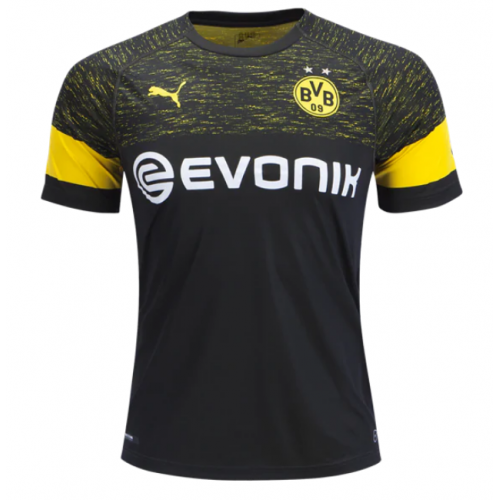 8b7fc448949 18-19 Borussia Dortmund Away Black Soccer Jersey Shirt - Cheap ...