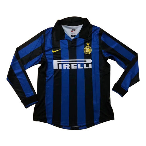 new products c910a 69067 98-99 Inter Milan Home Blue&Black Long Sleeve Retro Jerseys Shirt