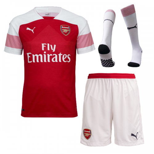 8f583628d21 ... 18-19 Arsenal Home Soccer Jersey Whole Kit(Shirt+Short+Socks)