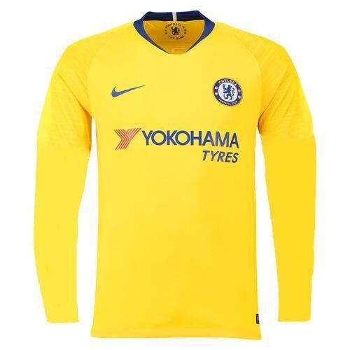0e3d5bf7b 18-19 Chelsea Away Yellow Long Sleeve Jersey Shirt - Cheap Soccer ...