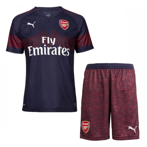 4d15b45967c 18-19 Arsenal Away Navy Soccer Jersey Kit(Shirt+Short) - Cheap ...