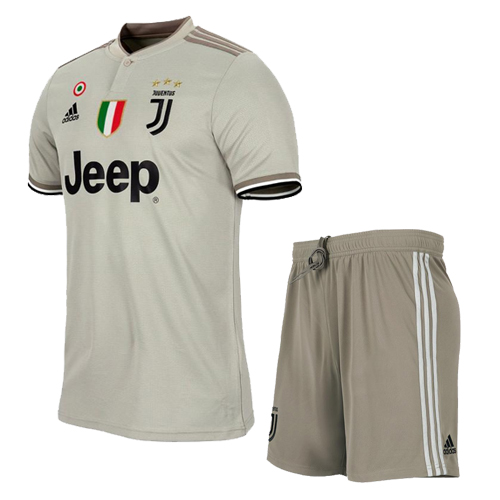 hot sale online dfc17 9036d 18-19 Juventus Away Gray Soccer Jersey Kit(Shirt+Short)