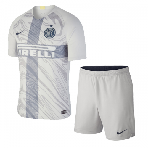 size 40 9957f f003d 18-19 Inter Milan Third Away Gray Soccer Jersey Kit(Shirt+Short)