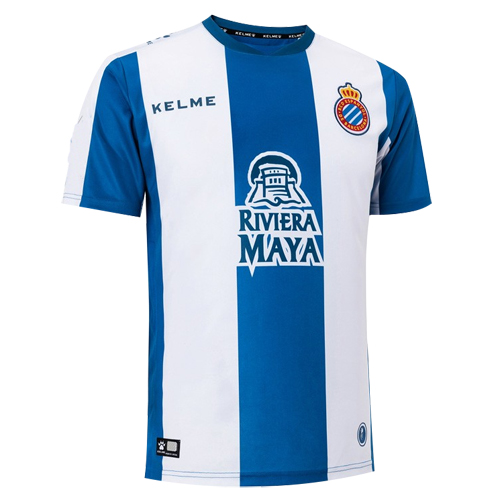399612338fc 18-19 RCD Espanyol Home Blue White Soccer Jerseys Shirt - Cheap ...
