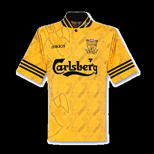 95 96 Liverpool Third Away Yellow Retro Soccer Jerseys Shirt Cheap Soccer Jerseys Shop Minejerseys Cn