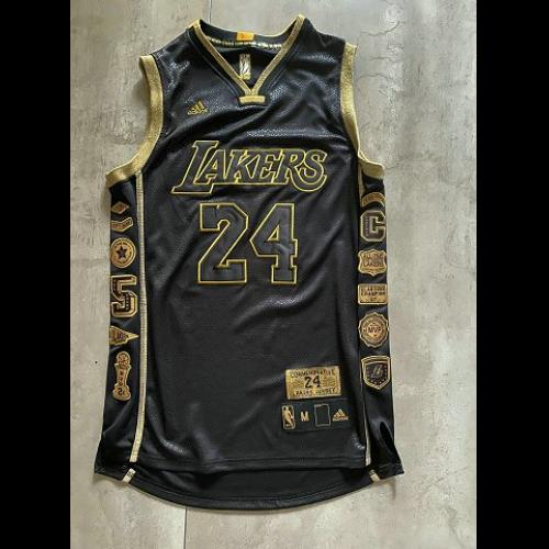 Men's Los Angeles Lakers Kobe Bryant #24 Black Commemorative ...