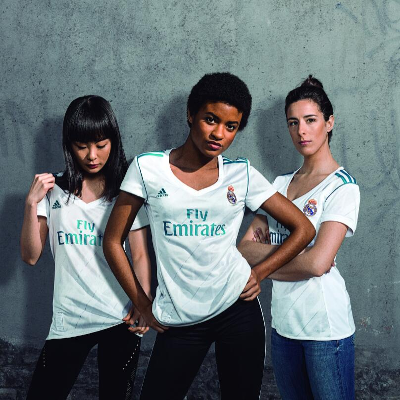 wholesale dealer c0066 ccb33 17-18 Real Madrid Home Women's Jersey Shirt
