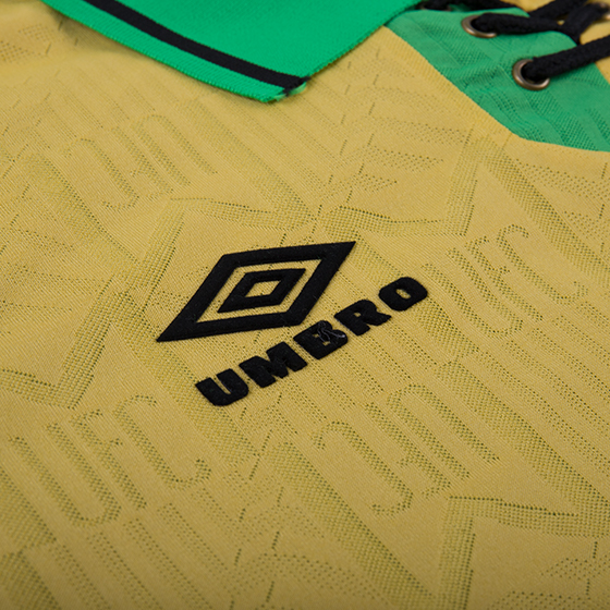 quality design e4654 3c894 92-94 Manchester United Away Classic Retro Yellow&Green Jersey Shirt