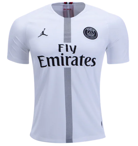 hot sale online 206ef 8d259 18-19 PSG JORDAN 3rd Away Player Version White Soccer Jersey  Kit(Shirt+Short)