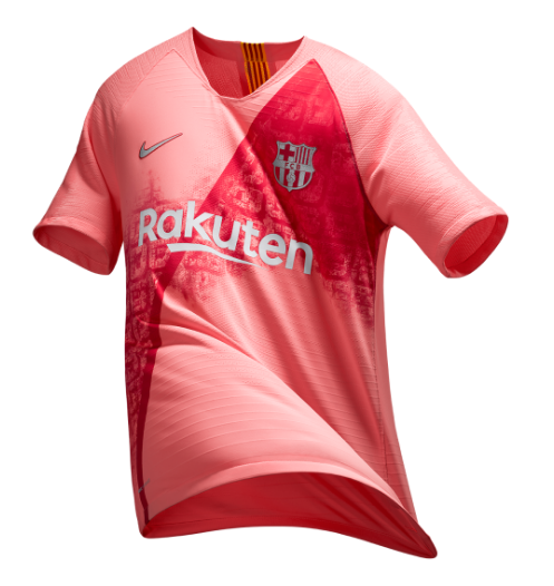 on sale c1534 0fd8c 18-19 Barcelona Third Away Pink Soccer Jersey Shirt