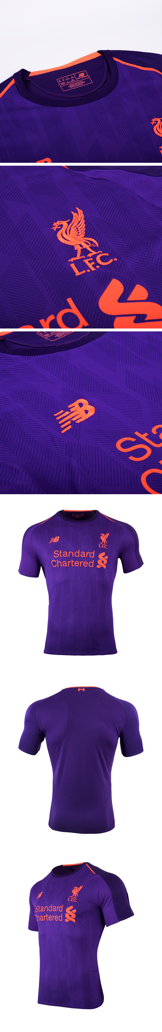 100% authentic 7acc7 631a2 18-19 Liverpool Away Purple Soccer Jersey Shirt